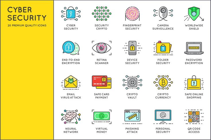 Awesome Cyber Security Icons by CkyBe on Envato Elements
