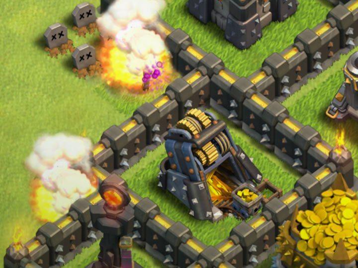 Upgrade Walls or Defense Buildings