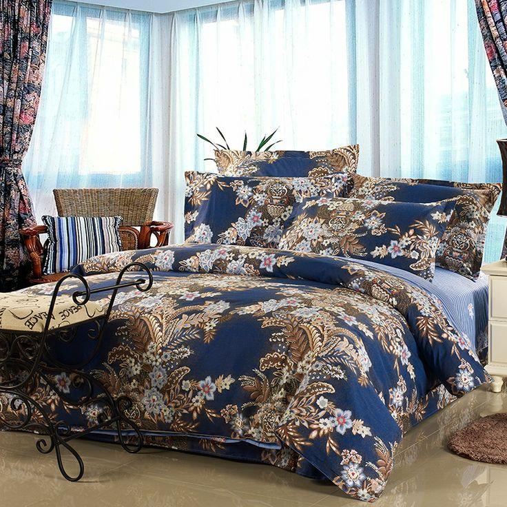 blue classical modern duvet cover set single double queen king doona cover set quilt