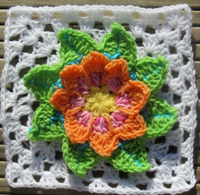 Crochet Granny Water Lily - Free Pattern