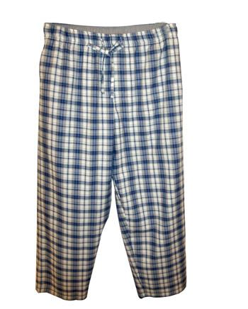 Blue Grey Check Pyjama Pant