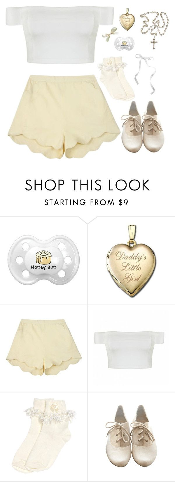 """""""cream"""" by naughty-nymphets ❤ liked on Polyvore featuring Samantha Pleet, Ally Fashion, Monsoon, Slow and Steady Wins the Race, little and nymphet"""