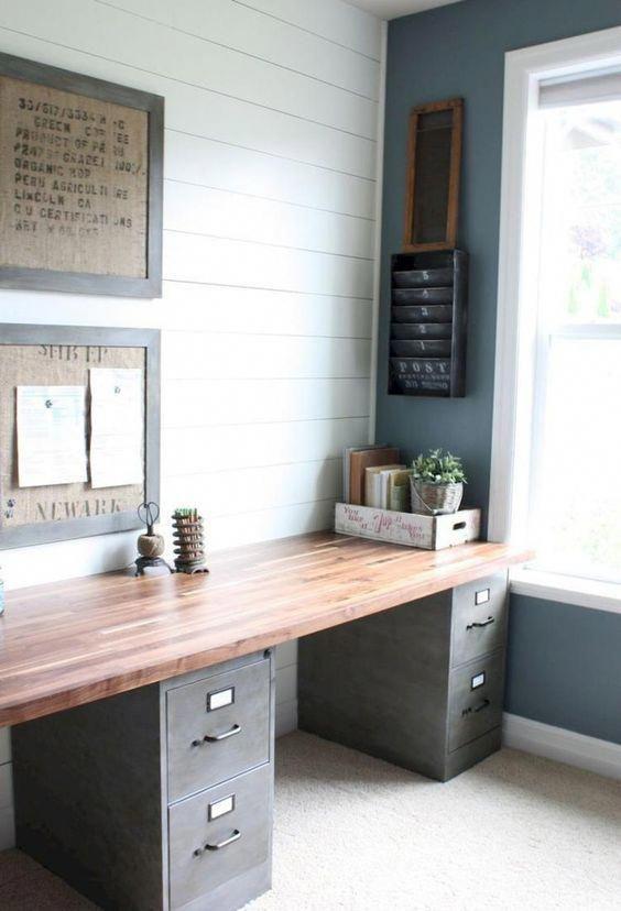 40 Easy DIY Farmhouse Desk Decor Ideas On A Budget #Decoratingideas ...