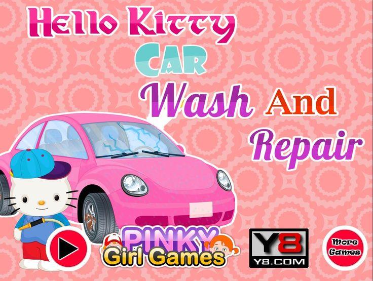 Różowy Garbus wygląda okropnie. Zadbaj o śliczny samochód i umyj go razem z Hello Kitty http://www.ubieranki.eu/gry/3818/hello-kitty-i-brudne-auto.html