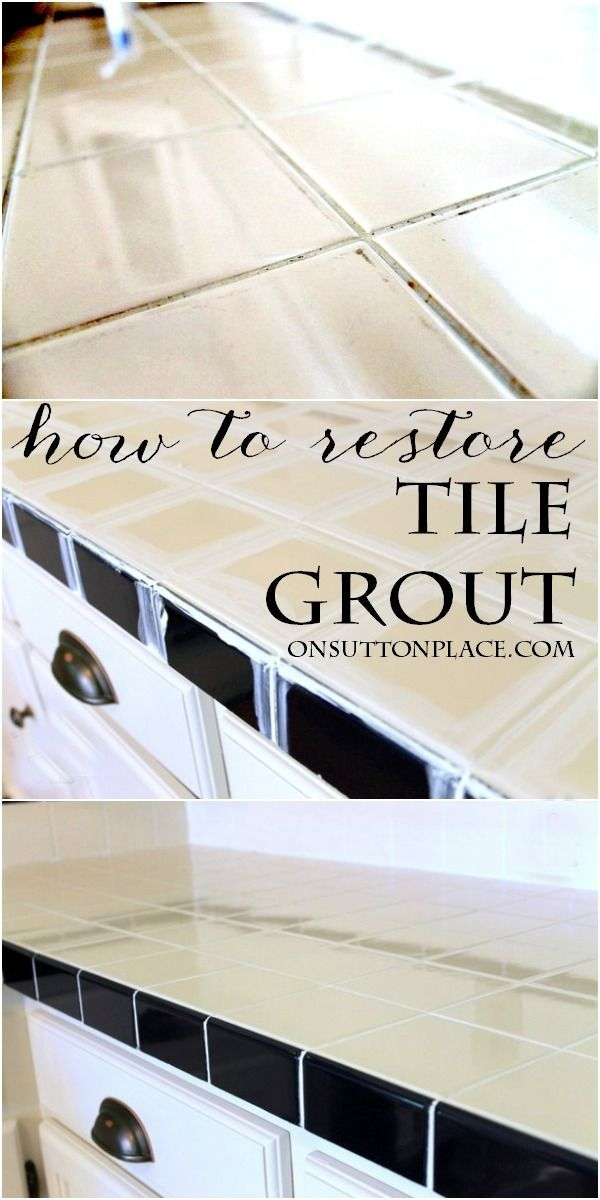 How To Restore Grout   The Easy Way. Cleaning SchedulesCleaning  HacksCleaning ...
