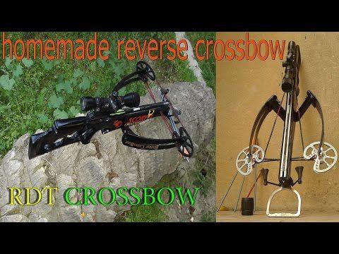 homemade reverse crossbow - YouTube