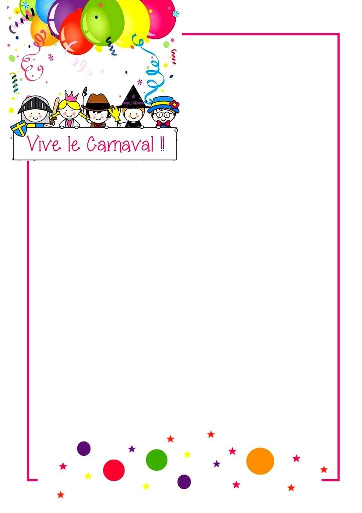 ".. Fiche collage photo "" Vive le carnaval "" cahier de vie .."