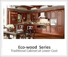 OP16-L25: Estilo Moderno industrial rojo del gabinete de cocina