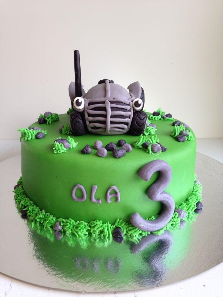 Gråtass kake Steg for steg Tractor cake tutorial