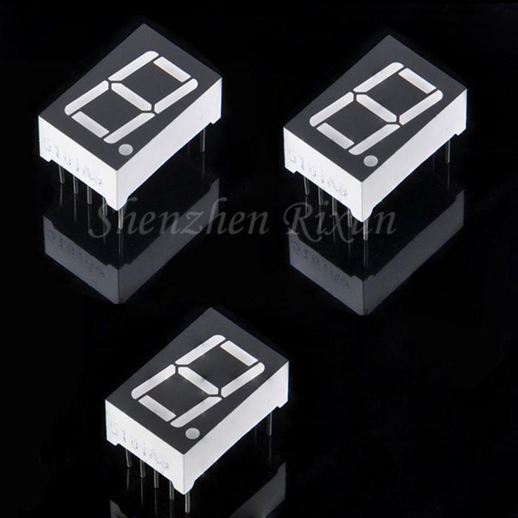 """Nuevo 5 Unids/lote 0.56 """"pulgadas 1 Bit 7 Segmento Red LED Display Tube Digital Cátodo Común De Metal y Plástico Para Arduino uno Envío Gratis"""