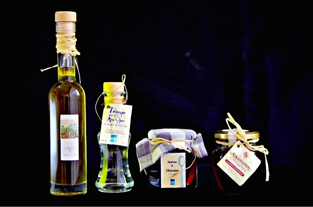 Greek olive oil, tsipouro, fruit in syrup & honey for all your greek-inspired recipes