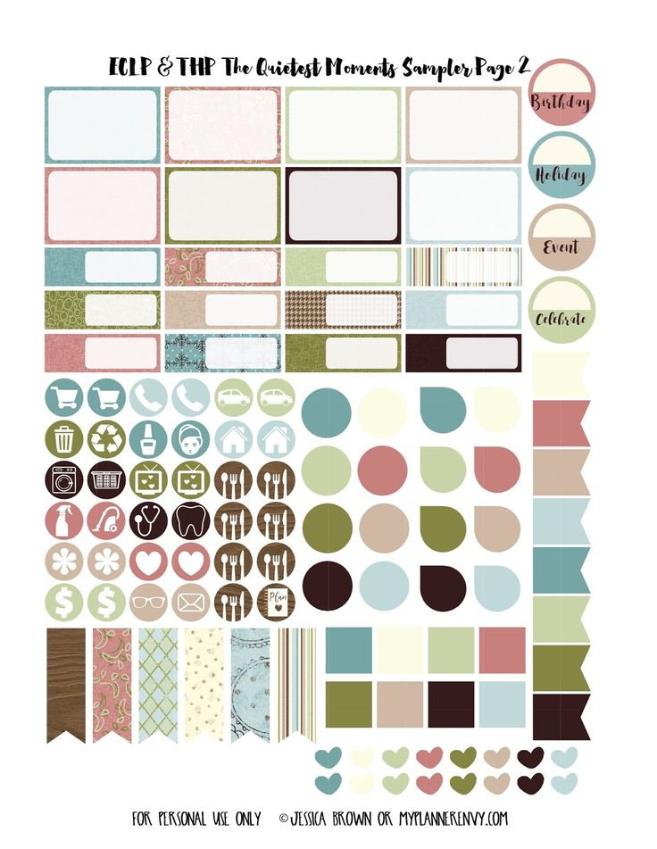 The Quietest Moments Page 2 Free Printable Sampler for the Vertical Erin Condren & Regular Happy Planner on myplannerenvy.com