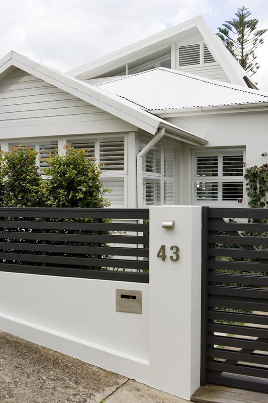 Contemporary Fences Houses Designs Design Front Yard Privacy Fence On Inspiration