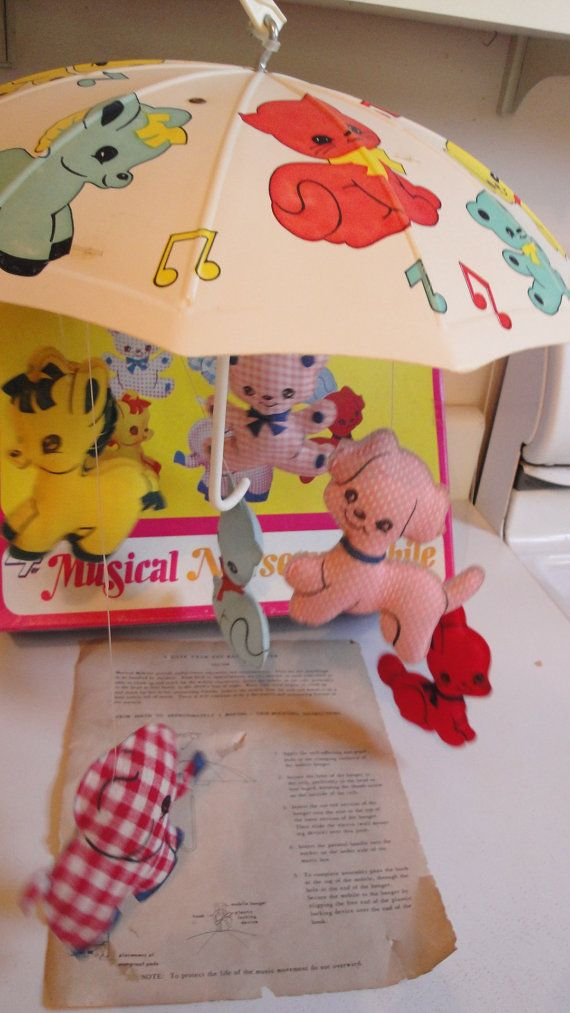 Vintage Musical Mobile 1970s with Box Instructions by CraftySara, $28.00