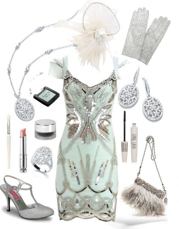 Such a pretty dress!  Les années folles. Mood board et inspiration pour une tenue de soirée année 20. Tons pastels!