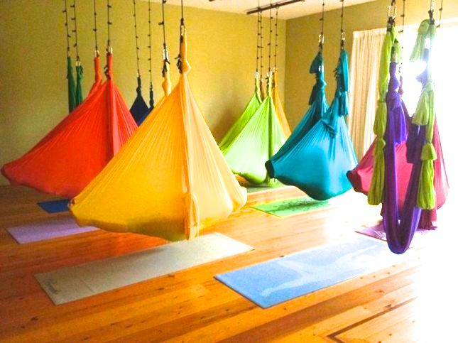 ARIAL YOGA HAMMOCKS. Figure out where to take a class and be sure to snap a photo!