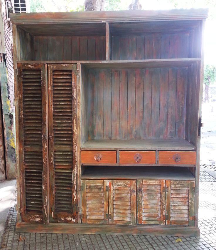 Muebles con alzada muebles rusticos madera reciclada - Madera reciclada muebles ...