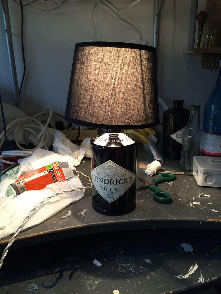 Abat-jour bottiglia gin hendrick's