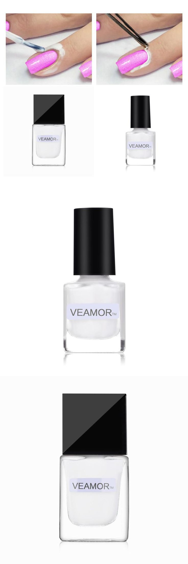 [Visit to Buy] VEAMOR 15ml White Peel Off Liquid Nail Art Tape Latex Finger Skin Protect Liquid Palisade Easy Clean Base Coat Culticle Care Nai #Advertisement