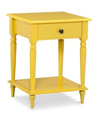 A yellow Threshold accent table is just the pop of color ...