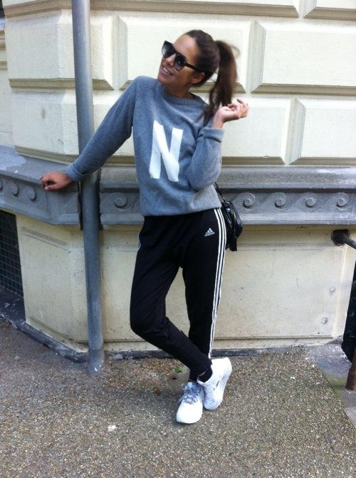 sporty and comfy and dressed up with an over the shoulder purse