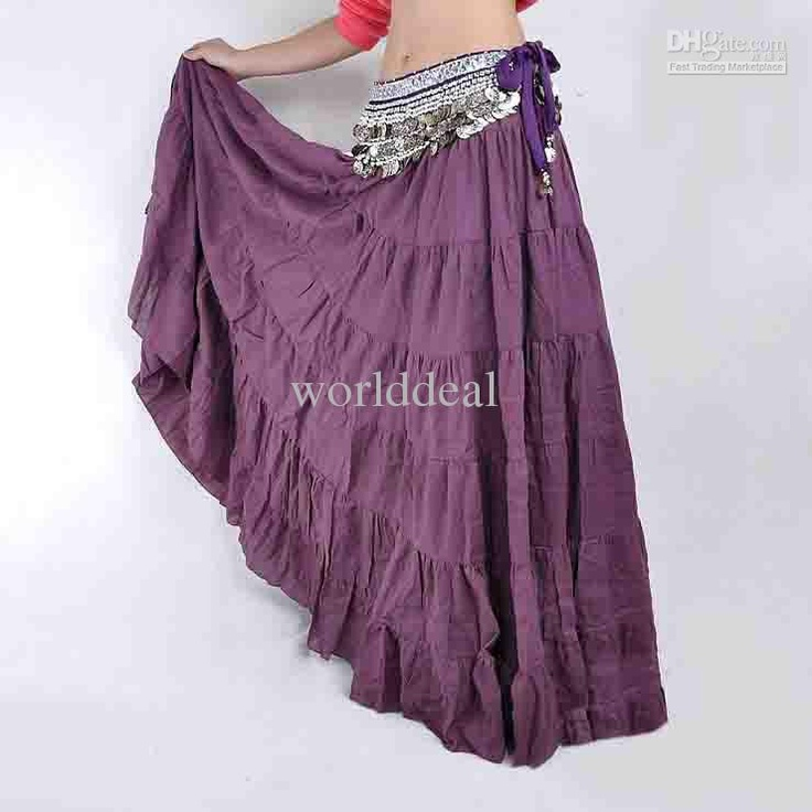 Online Cheap Tribal Gypsy Belly Dance Dress Bohemian Skirt Womens Costume  Accessories Yoga Mixed Colors By Worlddeal