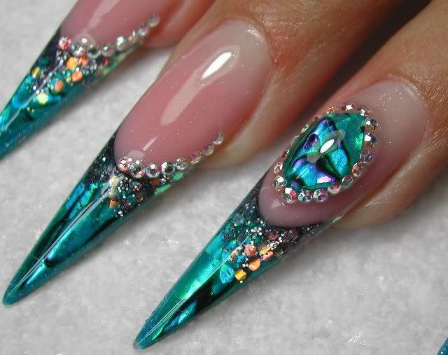 9 nails - liquid stones