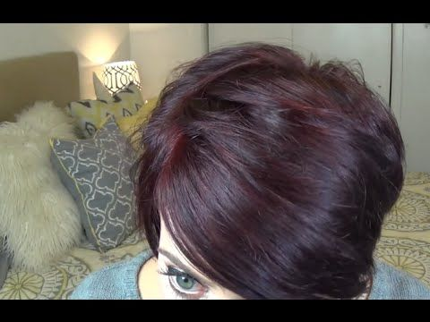 Amanda Whitten - YouTube How to get Burgundy Plum Hair Color at Home