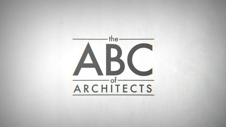 the ABC of architects animation by federico gonzalez and andrea stinga