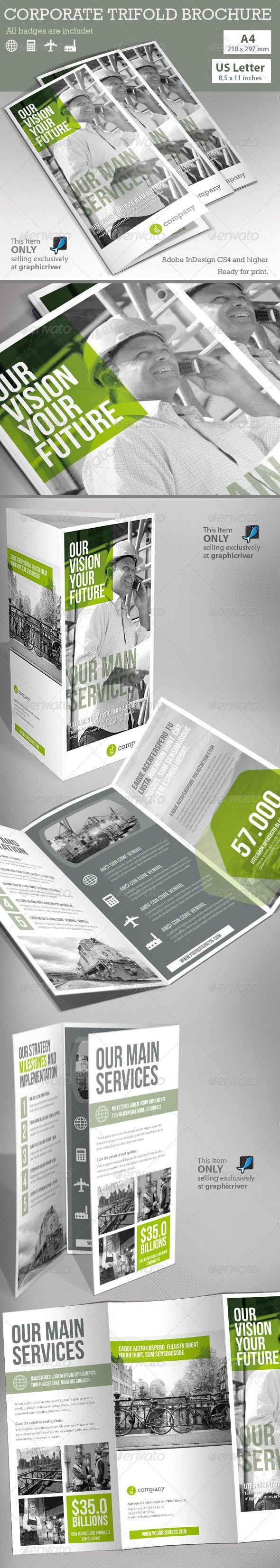 Corporate Tri-fold Brochure  - Print Templates