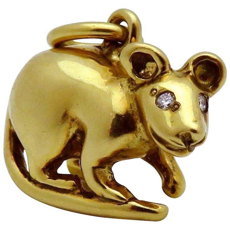 Tiffany Amp Co 18k Gold Paloma Picasso Chinese Zodiac Rat