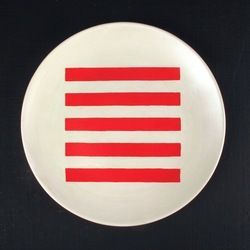 Darkroom Stripe Plate - Red. Darkroom