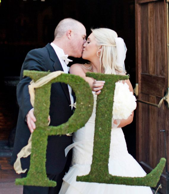 Moss Covered Letters  Moss Monogram Wedding by lifeissobeautiful, $120.00