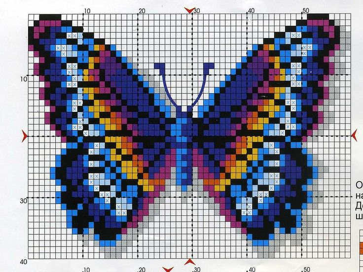 picture only - Butterfly perler bead pattern