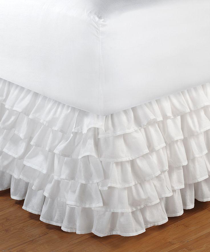 White Ruffle Bed Skirt