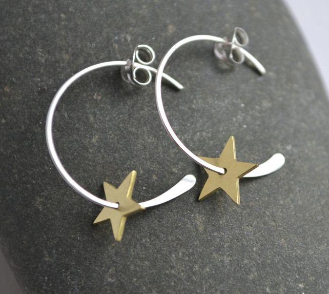 Star Hoop Earrings £24.00