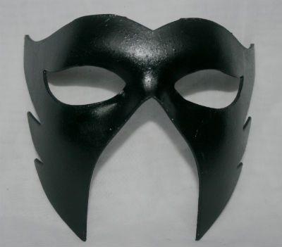 Gloss black Venetian  mask for men.  I love this mask design for men.