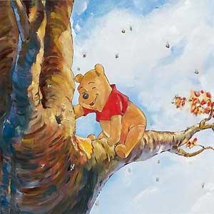 Winnie the Pooh - Out on a Limb - Jim Salvati - World-Wide-Art.com - $425.00 #Disney #JimSalvati