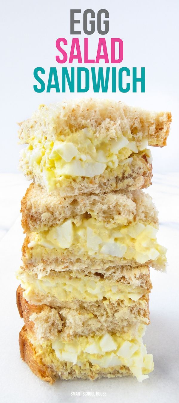Egg Salad Sandwich. An easy family favorite recipe! | Sandwiches ...