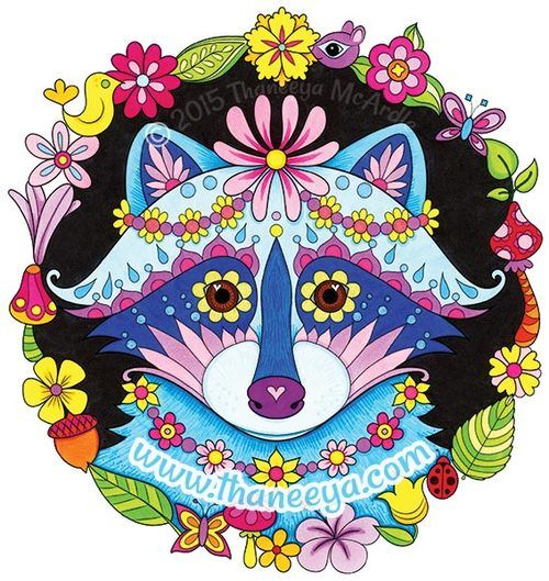 raccoon tune coloring pages - photo#33