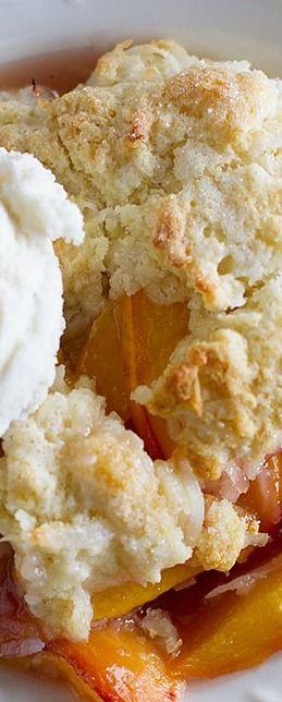 Coconut Peach Cobbler Recipe - Taste and Tell