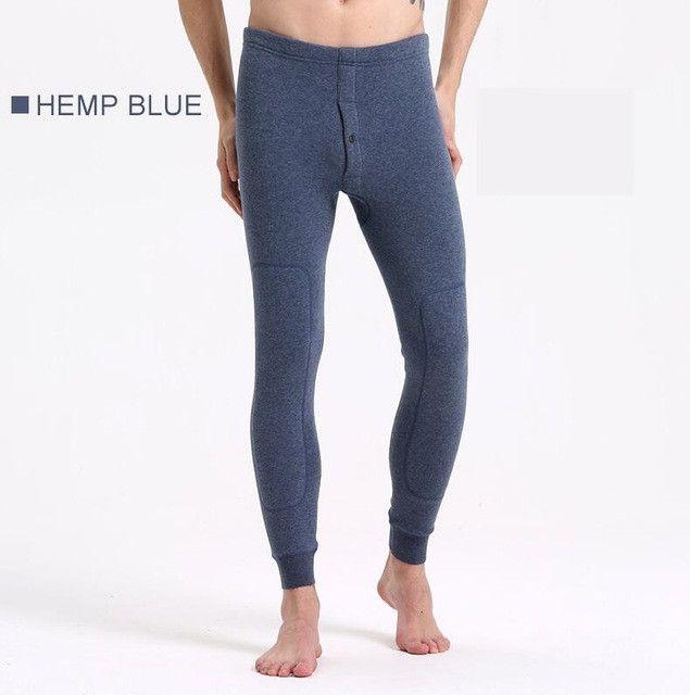 Underwear Men Thermal Fleece Underwear Bodybuilding long Johns Men Warm Leg Men Long John Tights Legging Underpants
