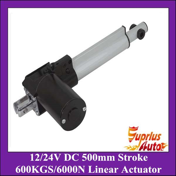 New Arrivals!! 6000N/600kgs load heavy duty linear actuator DC 12V/24V 20inch/500mm stroke 5mm/s linear actuators *** For more information, visit image link.