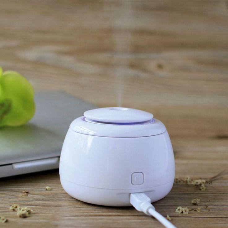 Mini Ultrasonic Humidifier Aromatherapy Mist Maker LED Difusor De Aroma Essential Oil Diffuser 80ML Aroma Diffuser