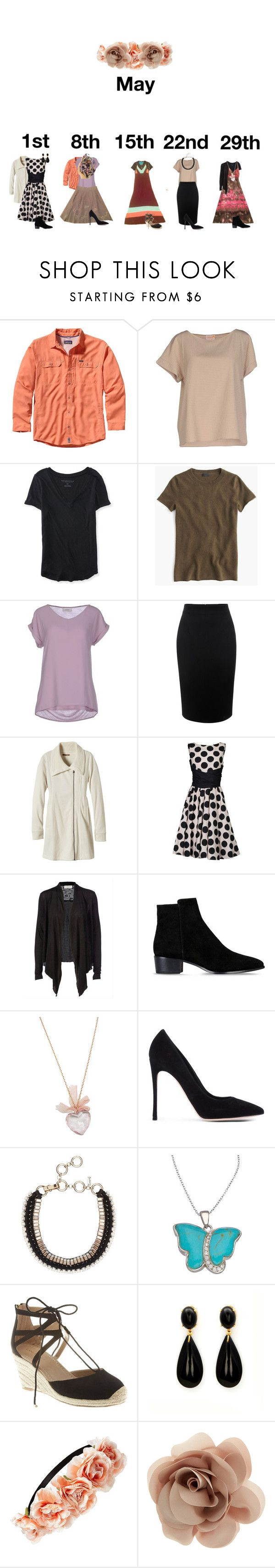 """Church in May"" by rachelellen21 ❤ liked on Polyvore featuring Patagonia, Dolores Promesas, Aéropostale, J.Crew, Alpha Studio, Alexander McQueen, prAna, Jolie Moi, Rosemunde and Barbara Bui"