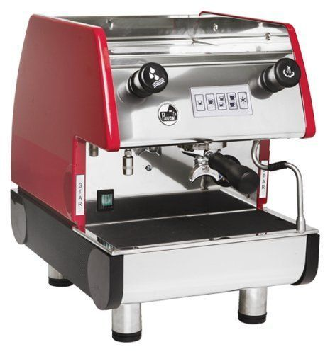 European Gift & Houseware La Pavoni Pub Series PUB 1V-R 1-Group Commercial Espresso Machine, Red by European Gift & Houseware. $4250.00. 6-1/2-liter copper boiler; oversized filter holder allows for making 6 espresso shots at a time. Microprocessor controls; electronic programmable dosing; NSF/CSA certified. Measures 21 by 15 by 21 inches; 1-year limited warranty. Steam wand and hot-water jet; 8-liter water softener and installation kit included. 1500-watt single-gro...