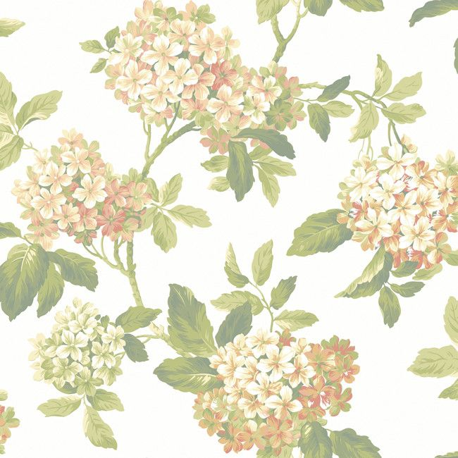 York JT7656 Ashford House Blooms Hydrangea Wallpaper