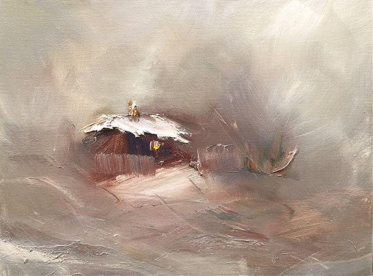 Georgi Petrov White silence, oil on canvas,