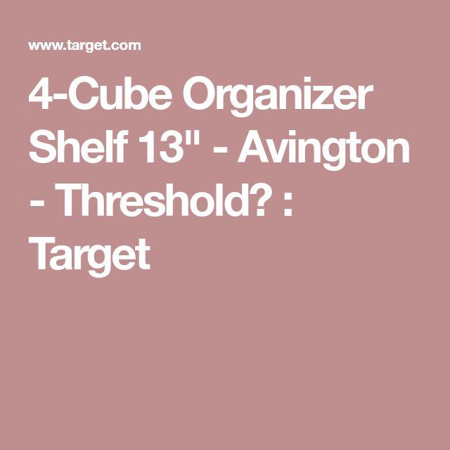 "4-Cube Organizer Shelf 13"" - Avington - Threshold™ : Target"