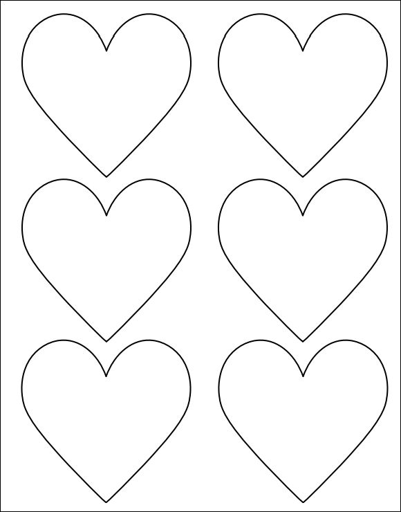 Sweet image with printable heart shapes